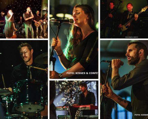 collage Coverband The Hits, bruiloft Utrecht 2017
