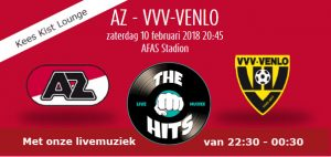 Livemuziek na AZ-VVV door Coverband The Hits in Keest Kist Lounge
